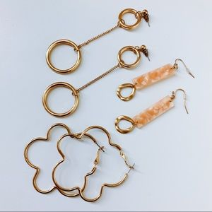 70s inspired earring bundle